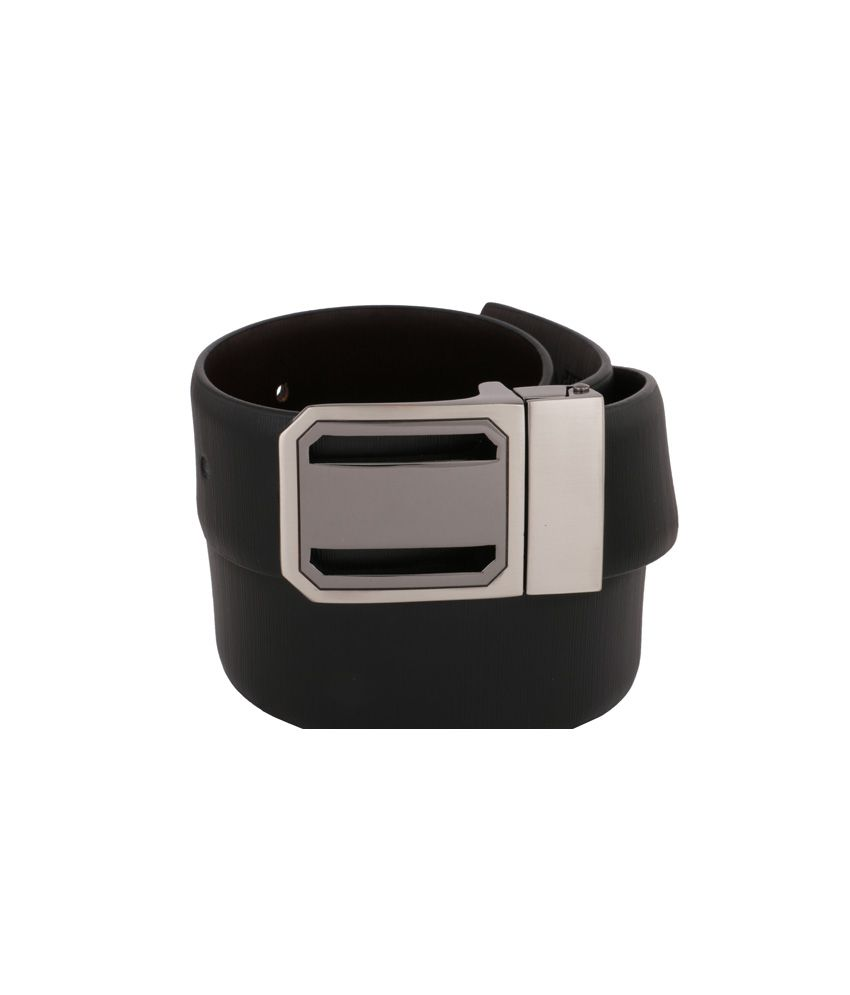 Vinson Massif Roberto Black Brown Reversible Leather Belt