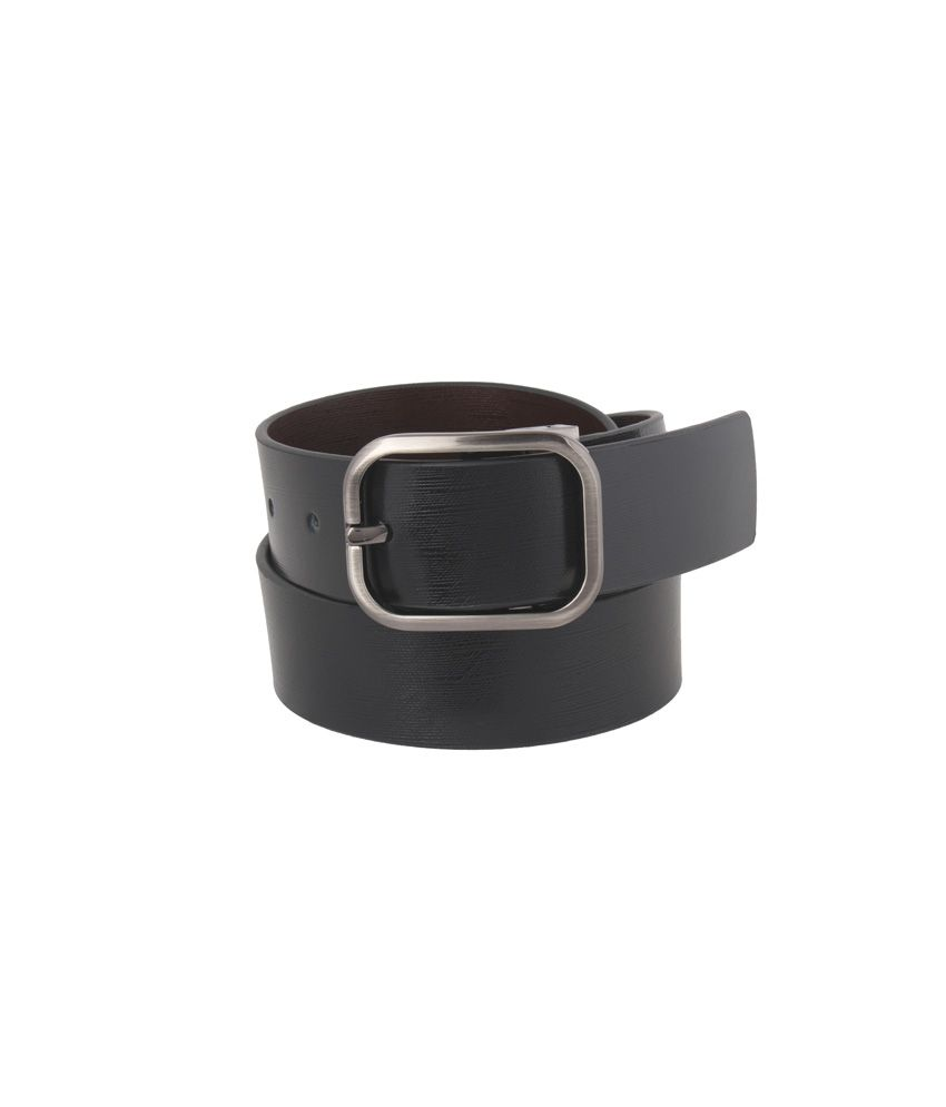Vinson Massif Tabor Black Brown Reversible Leather Belt