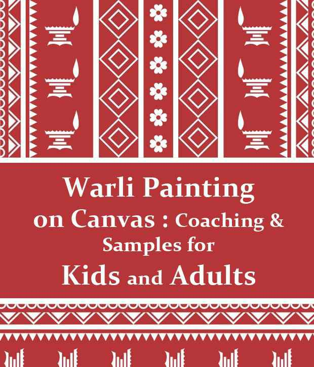Warli Painting On Canvas Coaching Samples For Kids And Adults By