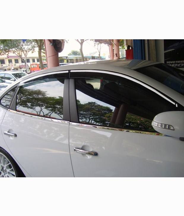 Autokraftz Chrome Garnish Door rain sun Visors For Hyundai Elite I20 ... c9c1fd0a001