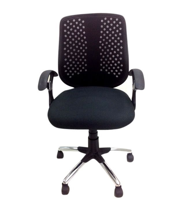 mod furniture metal natural finish office chairs in black