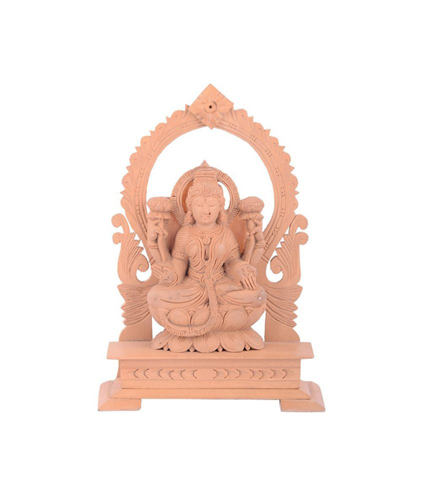 Sheela's Arts & Crafts Beige Resin Lakshmi Idol