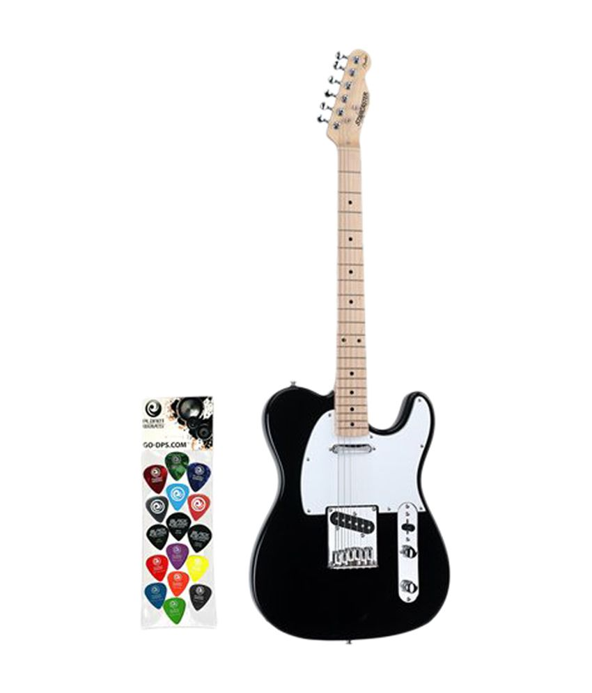 fender starcaster black telecaster electric guitar with planet waves buy fender starcaster. Black Bedroom Furniture Sets. Home Design Ideas