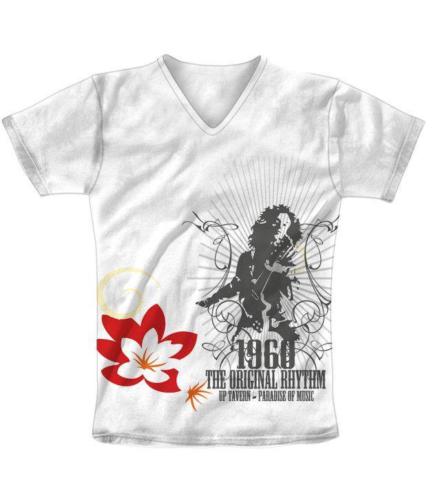 Freecultr Express White Cotton Blend T-shirt