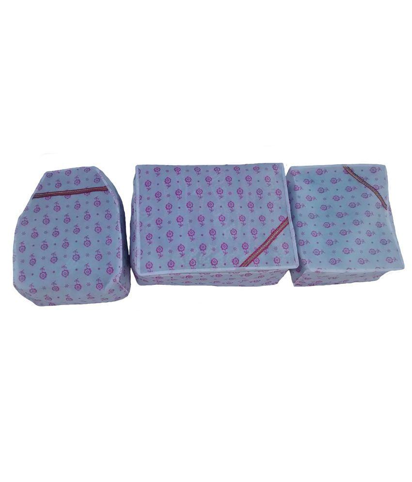 Indi bargain Non Woven Set of Saree, Blouse and Petticoat Cover (10-15 Sarees Capacity)