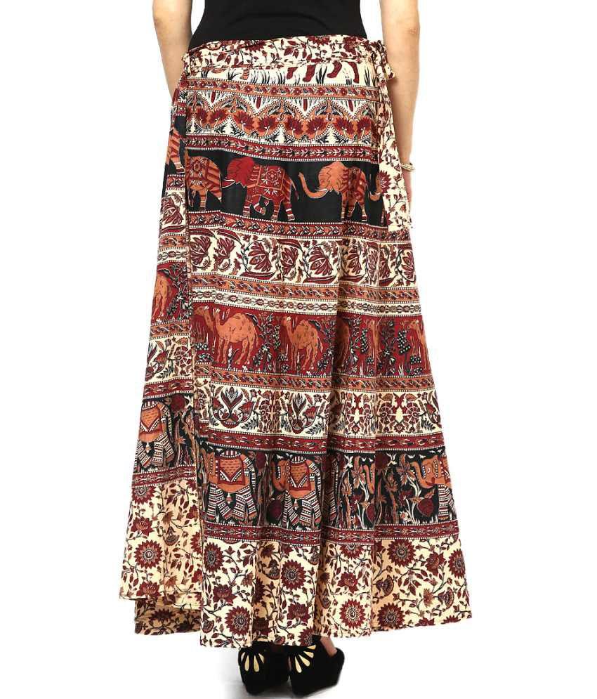 227c641192 Buy Rajasthani Sarees Jaipuri Printed Cotton Long Wrap Skirt Online ...