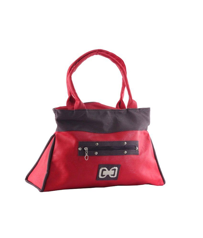Urbane Chics Red Stylish Women Hand Bag