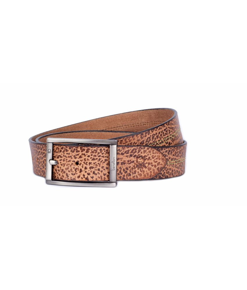 United Colors Of Benetton Men's Leatherite Stylish Belt In Brown Colour