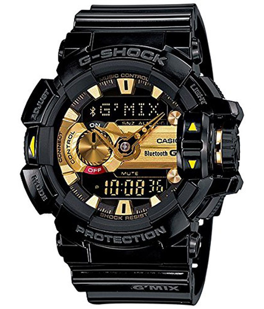 Casio g shock bluetooth analog digital black dial men 39 s watch gba 400 1a9dr g557 buy casio for Watches g shock