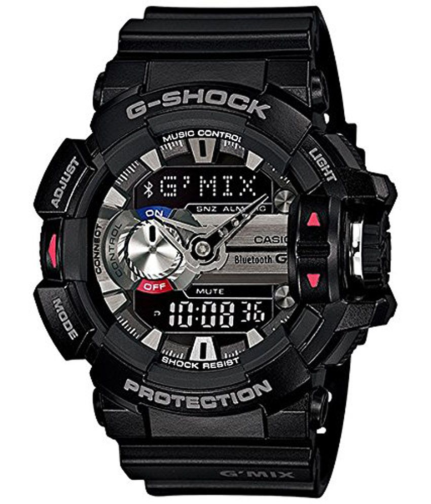 Casio g shock bluetooth analog digital black dial men 39 s watch gba 400 1adr g556 buy casio for Watches g shock