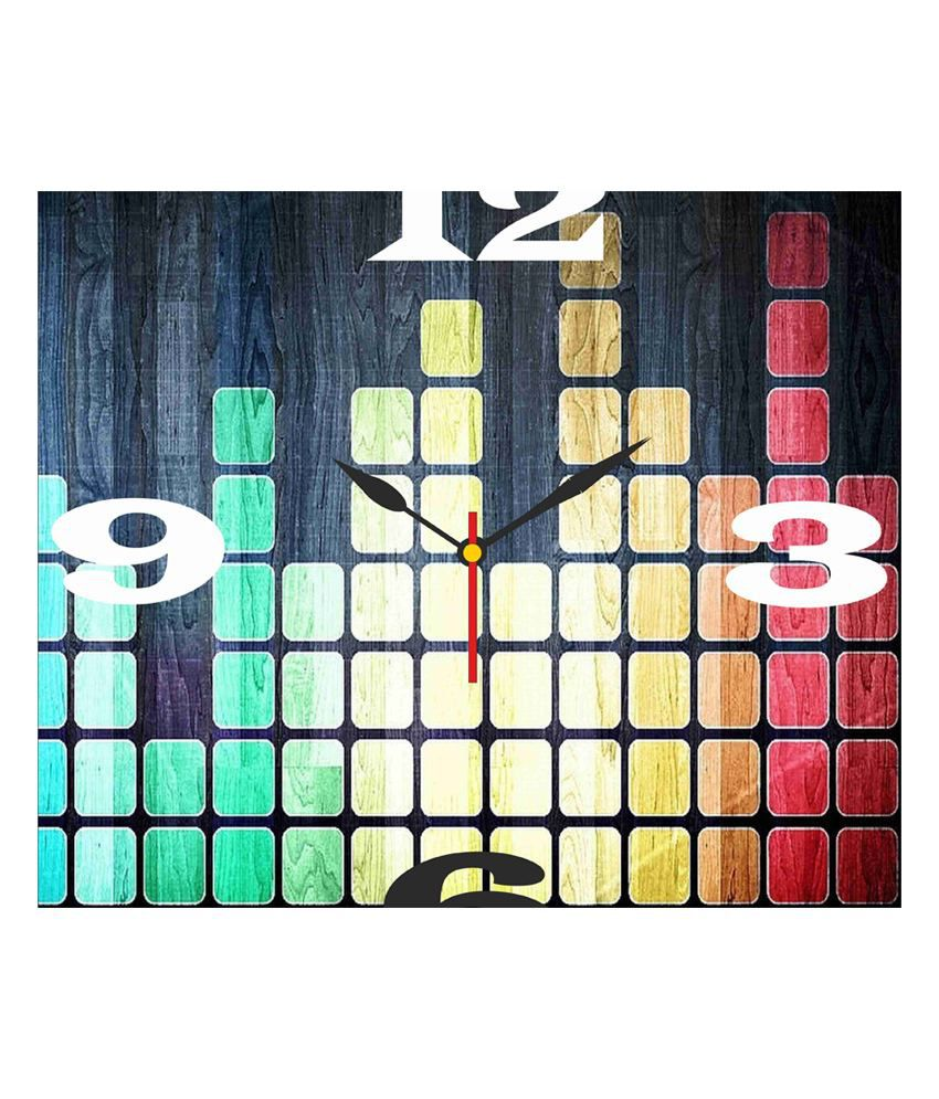 Go Hooked Designer Wall Clock Buy Go Hooked Multicolour