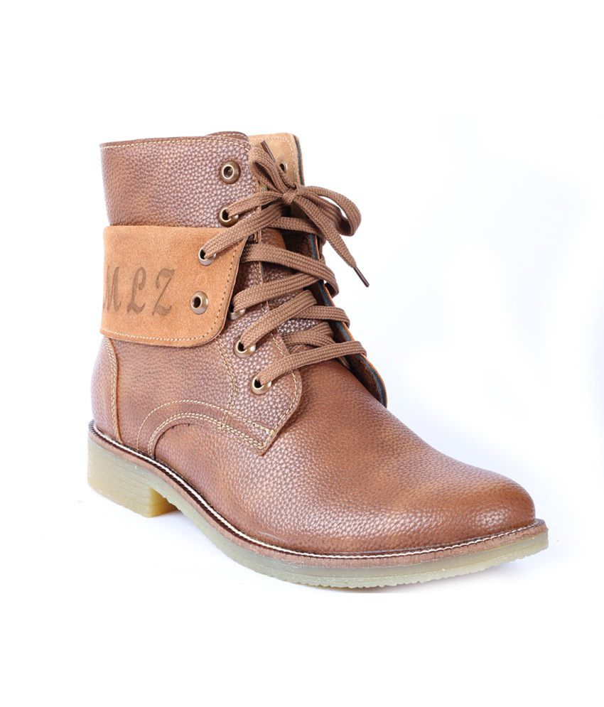 Moladz Brown Faux Leather Boot