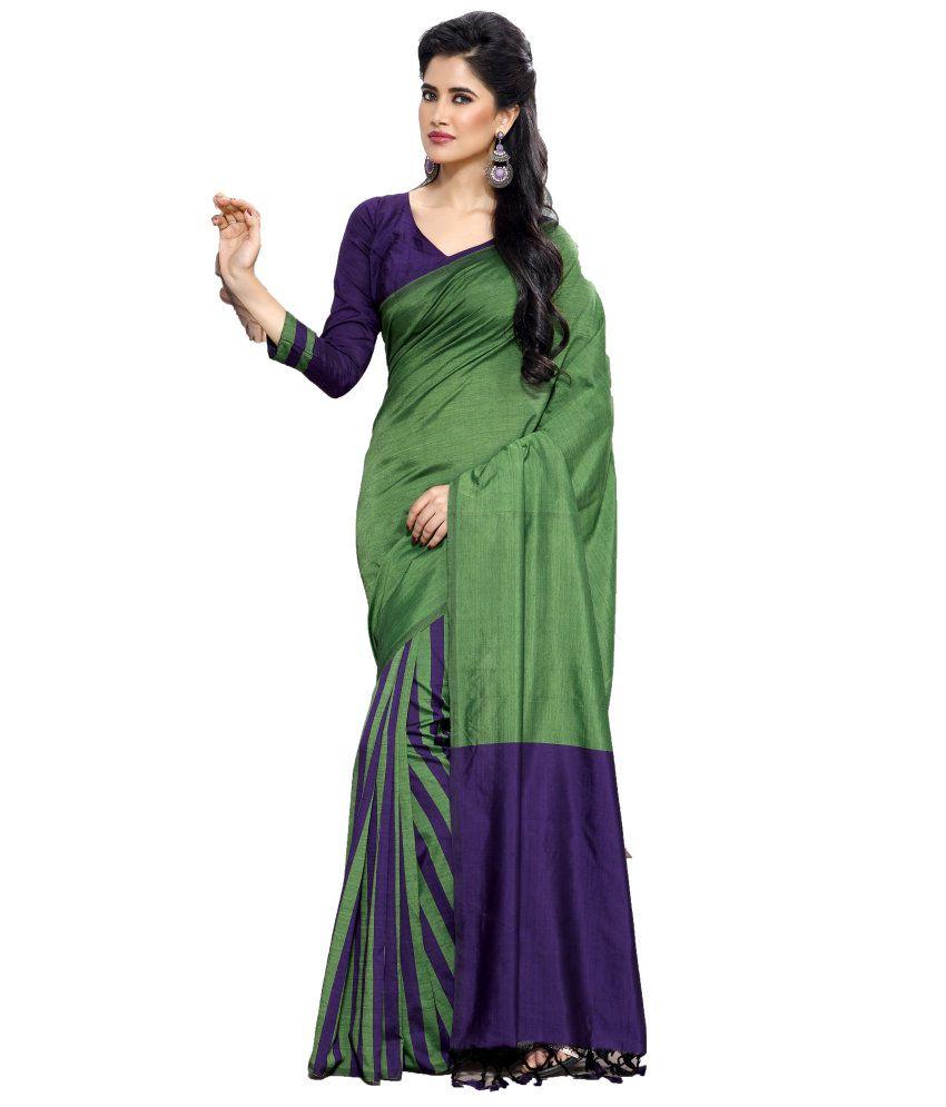 ... Saree - Buy Reet Green Cotton Saree Online at Low Price - Snapdeal.com