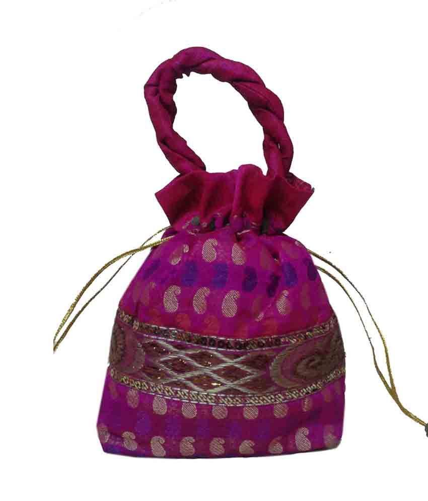 Royal Beautiful Design Pink Potli