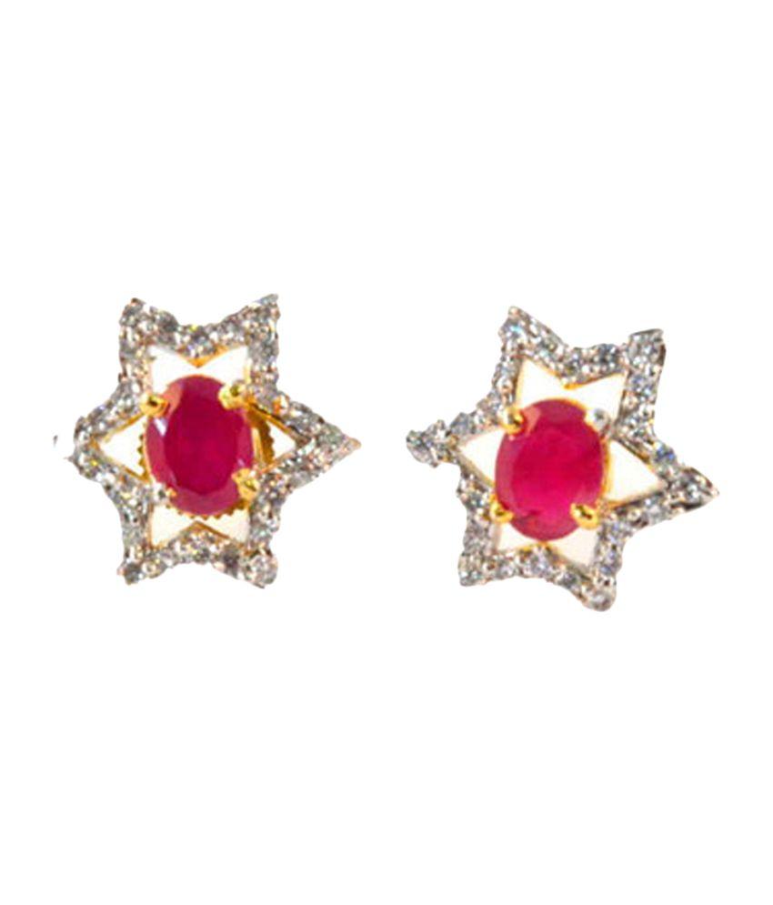 Vastradi Cute American Diamond Earrings
