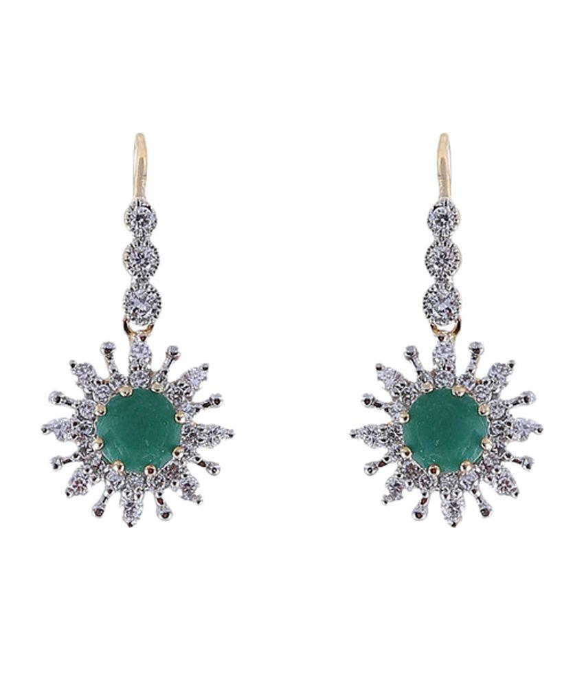 Vastradi Tiny Droplet American Diamond Earrings