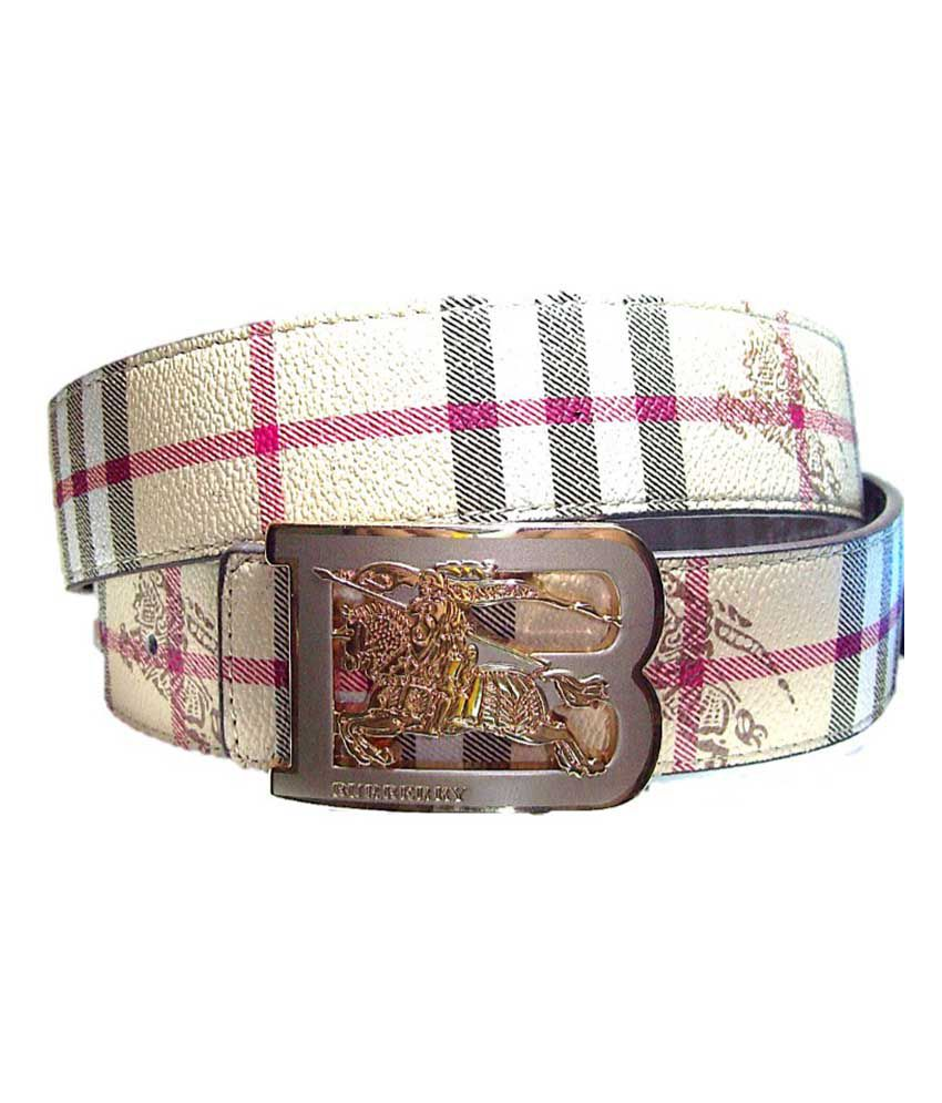 f6d5c2972fa Burberry Beige Designer Belt With Golden Buckle  Buy Online at Low ...