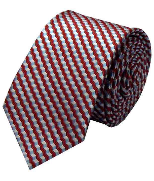 Navaksha Multicolor Micro Fibre Slim Necktie