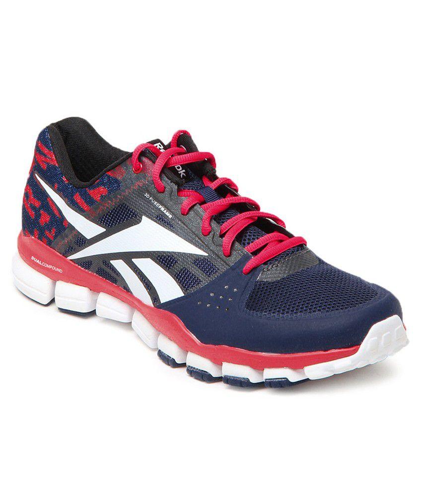 e21877ee92679b Reebok Realflex Transition 4.0 Blue black white geranium Men s Sports Shoes  - Buy Reebok Realflex Transition 4.0 Blue black white geranium Men s Sports  ...