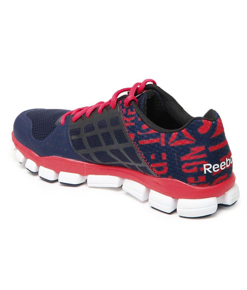 41c83228ec49 ... Reebok Realflex Transition 4.0 Blue black white geranium Men s Sports  Shoes ...