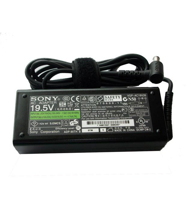 Arb Laptop Adapter For Sony Vpc-w215ax/t Vpcw215ax/w 19.5v 4.74a 90w Connector Pin : 6.5 X 4.4 Mm