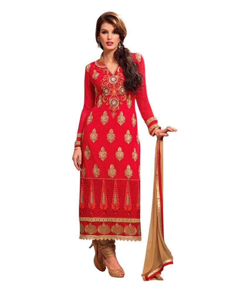 Red Ethnicbasket Designer Red Salwar Kameez