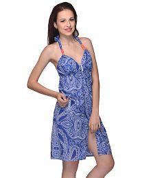 Citypret Henna Print Blue Dress
