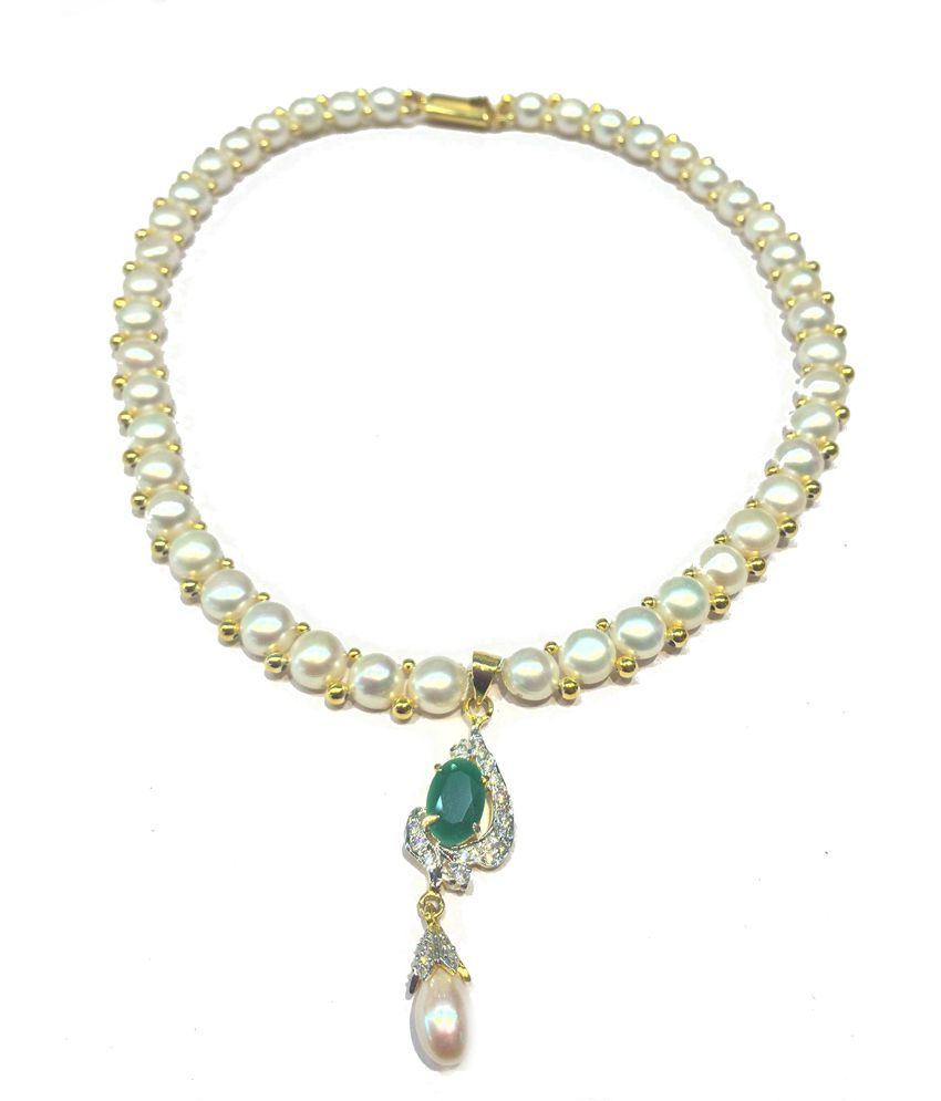Liluram Pure Pearl 22kt Necklace