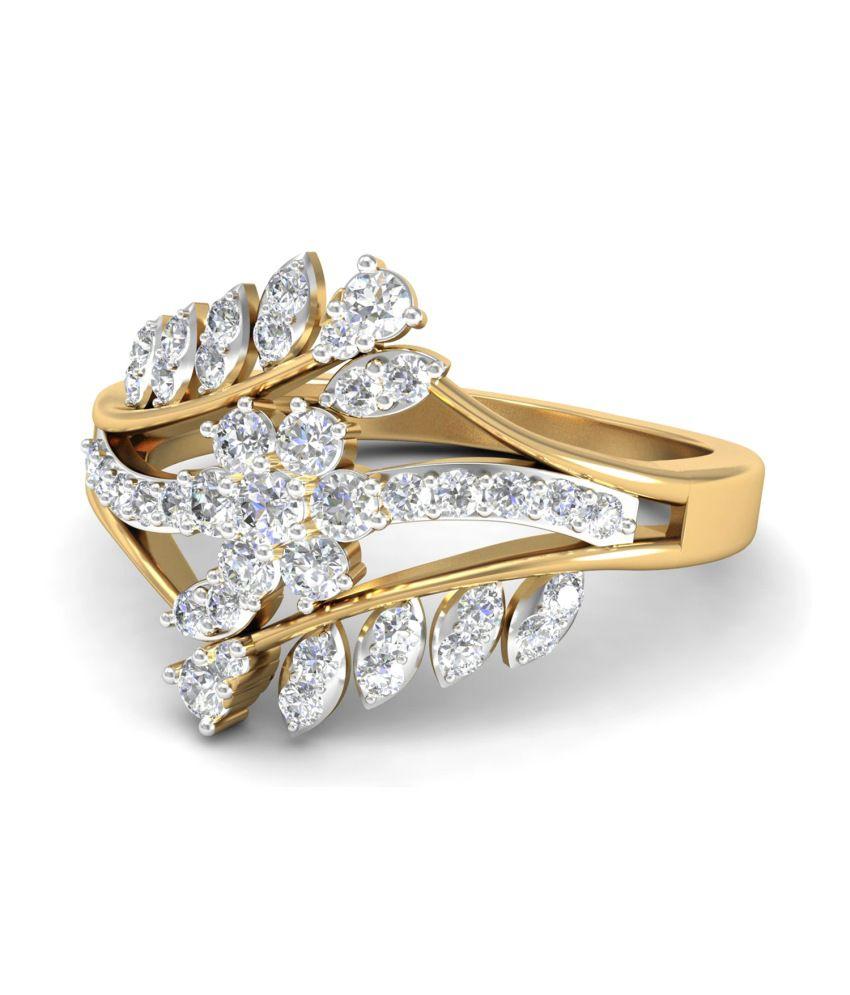 WearYourShine PC Jeweller 18KT Gold The Freya Diamond Ring