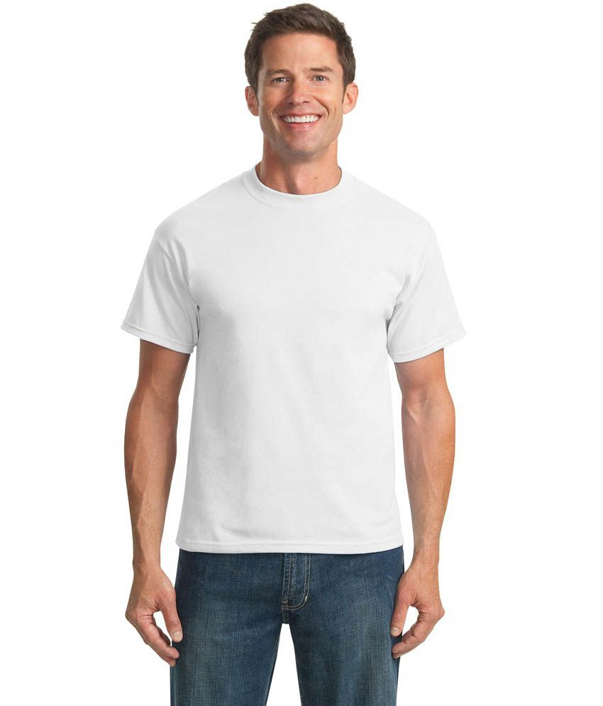 Himalaya Exports White Cotton Round Neck T-shirt (pack Of 2)