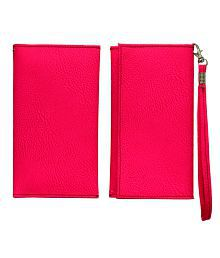 Jo Jo Pouch Wallet For Samsung E2652 Champ Duos - Pink for sale  Delivered anywhere in India