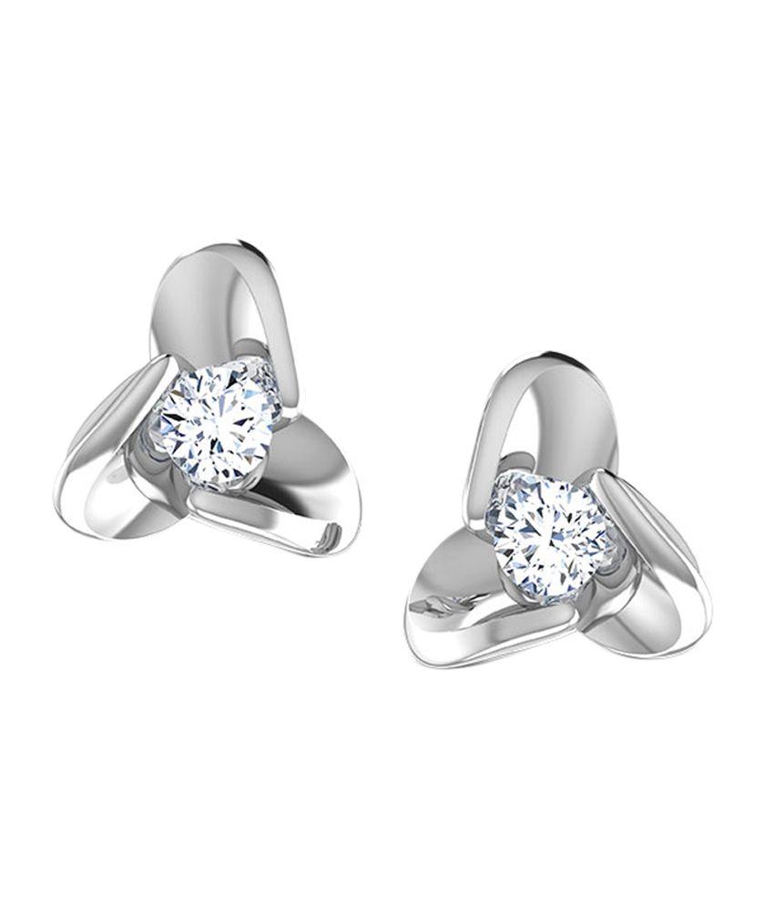 Caratlane Dazzle Stud Earrings