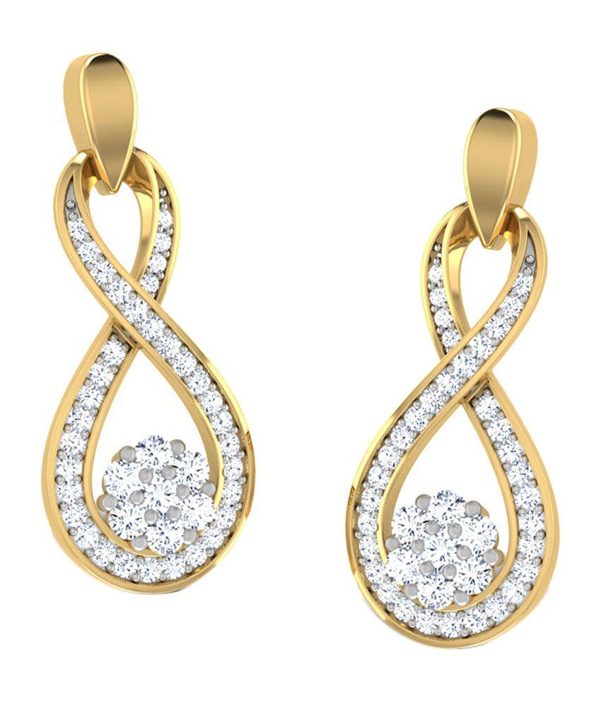 Peacock Pinion Drop Earrings Jewellery India Online