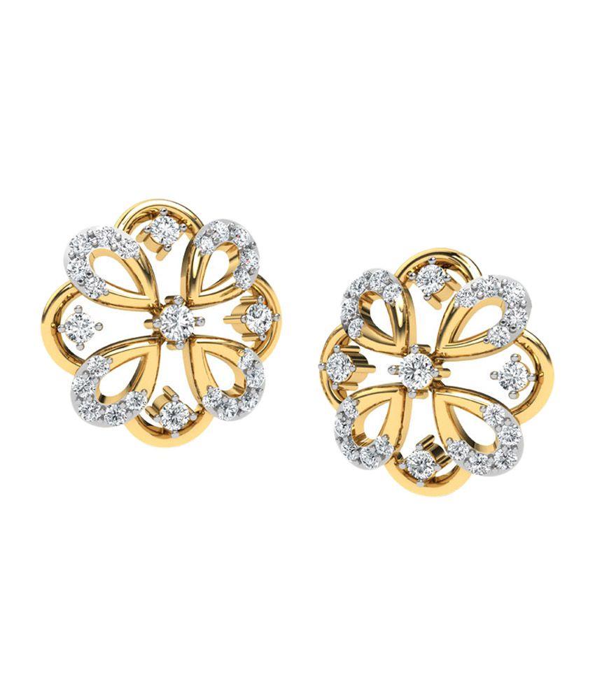 Caratlane Rangoli Stud Earrings