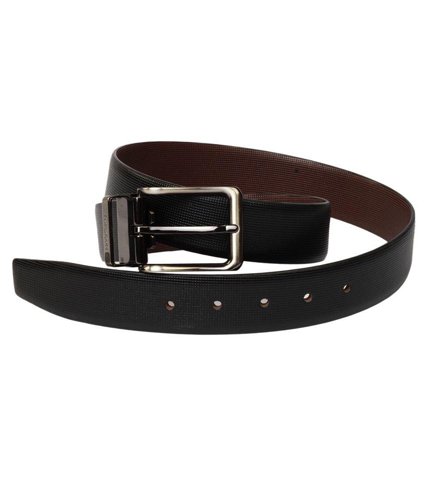 Topgrain Black Single Leather Pin Buckle Belt