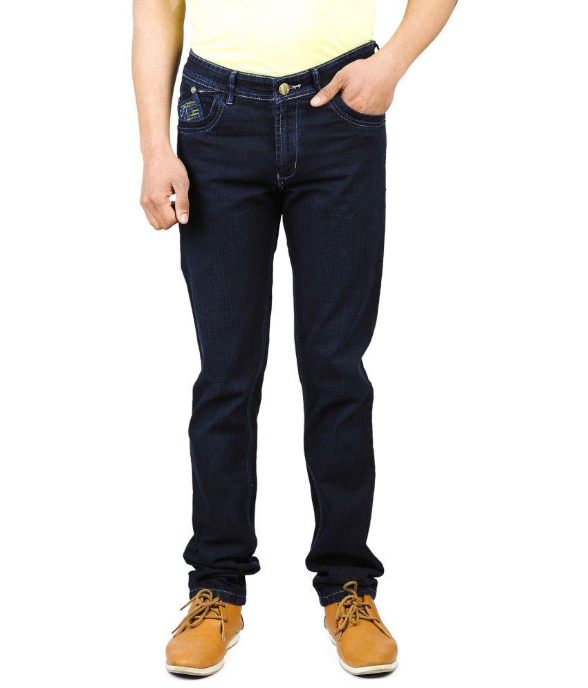 Wintage Black Cotton Regular Men Jeans