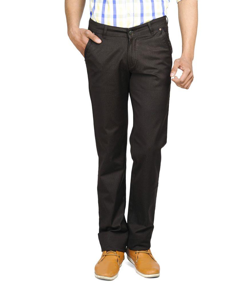 Wintage Trendy Slim Fit Brown Trousers