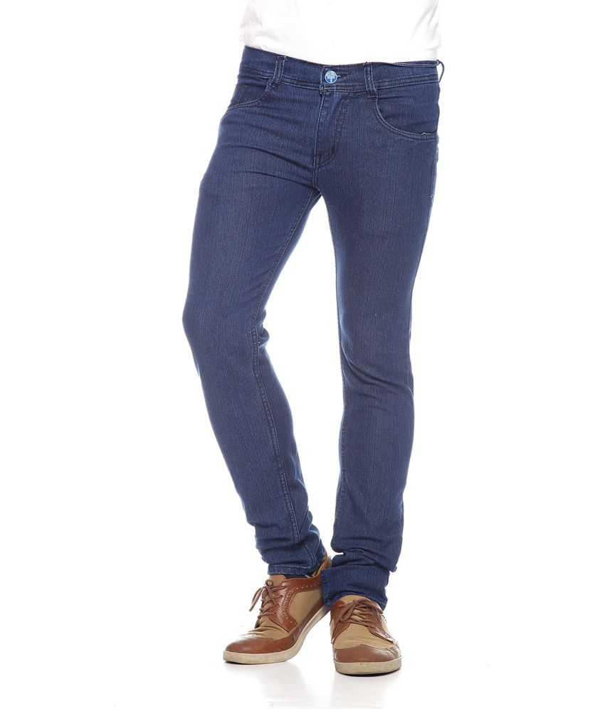 Coaster Blue Cotton Blend Tapered Jeans