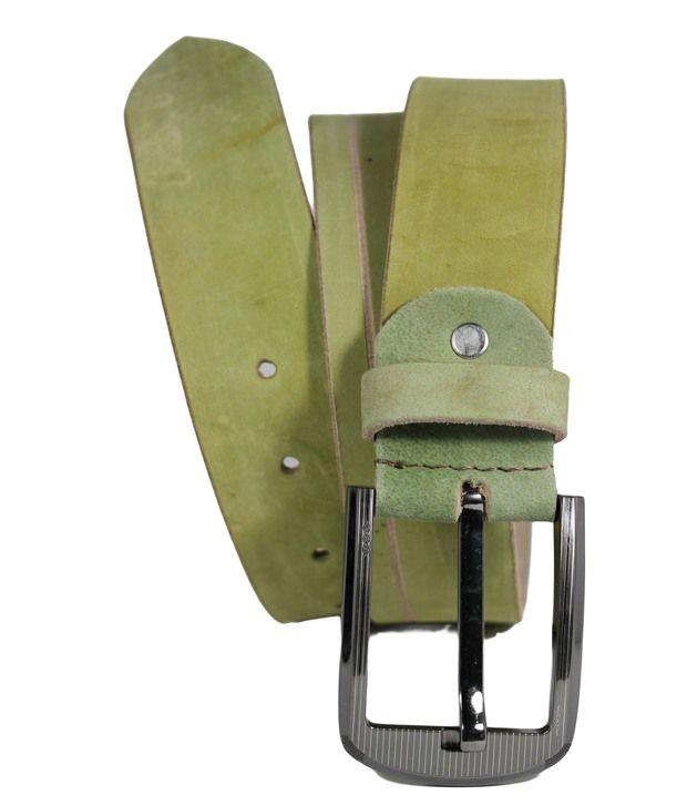 Hoa Green Mens Casual Leather Belt