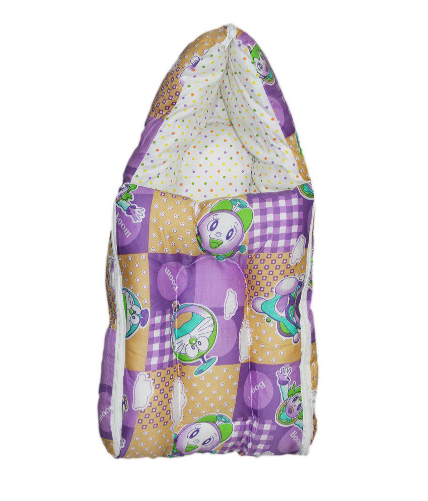 Orange And Orchid Baby Bedding Set Cum Sleeping Bag,Bed For Just Born
