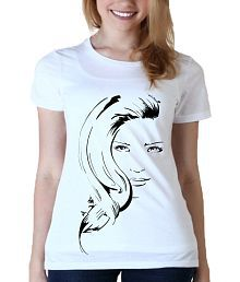Zorba Mart Lady Design White Women Cotton T-shirt