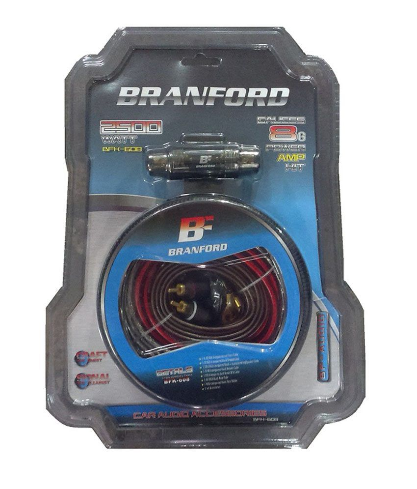 Branford Hq 8 Guage Amp Wiring Kit With 2 - 4 Channel Convertor