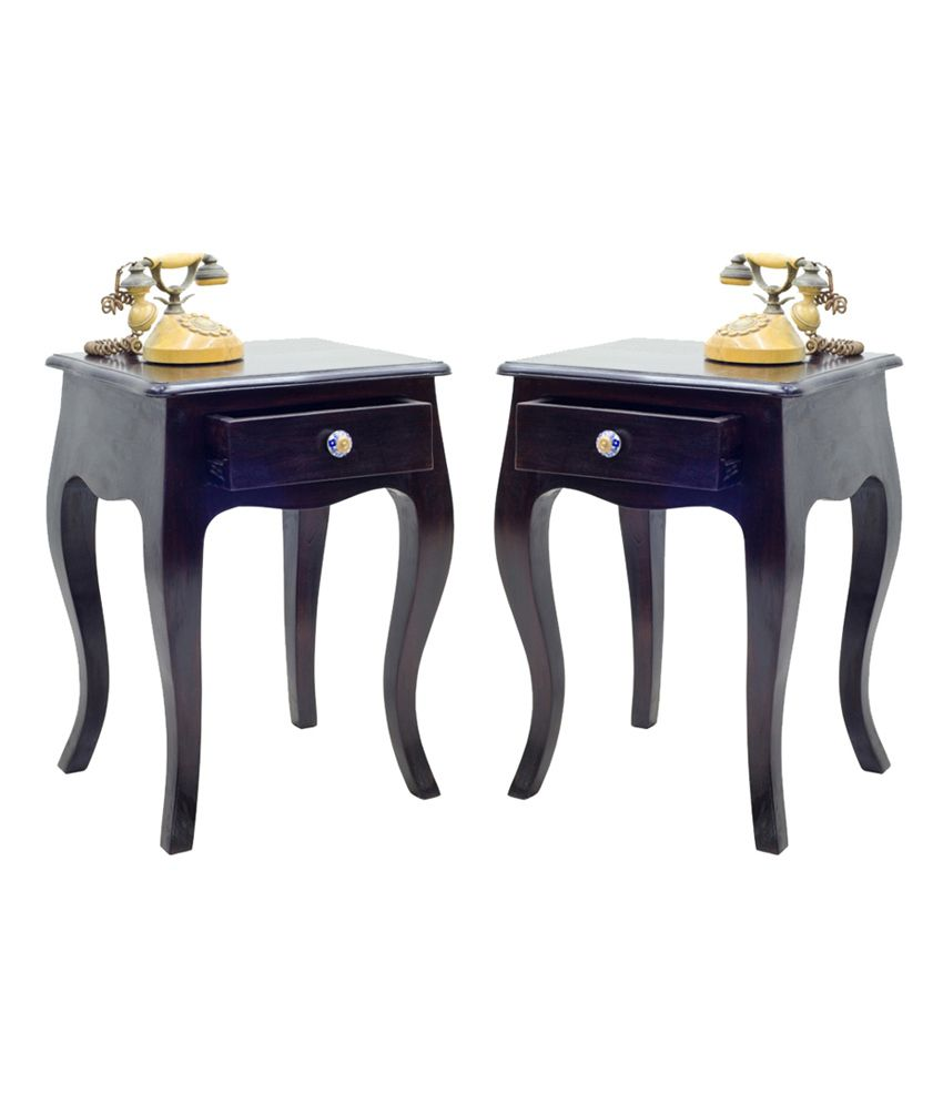 Junglewood Brown 2 Pieces Of Cutee 1 Draw Side Table