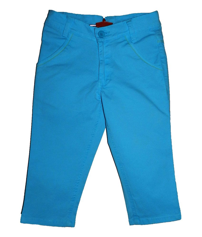 Mcdees Blue Cotton Capri