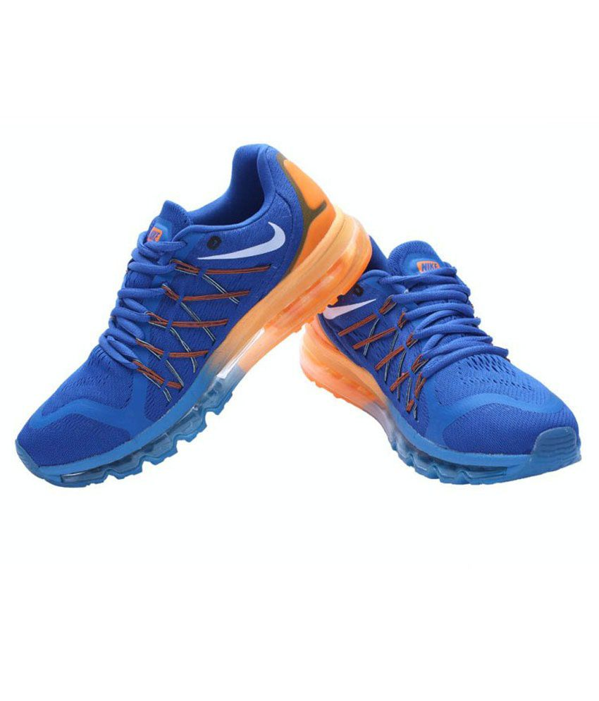 sale retailer b3723 446c6 Nike Airmax 2015 Blue Orange - Buy Nike Airmax 2015 Blue Orange Online at  Best Prices in India on Snapdeal