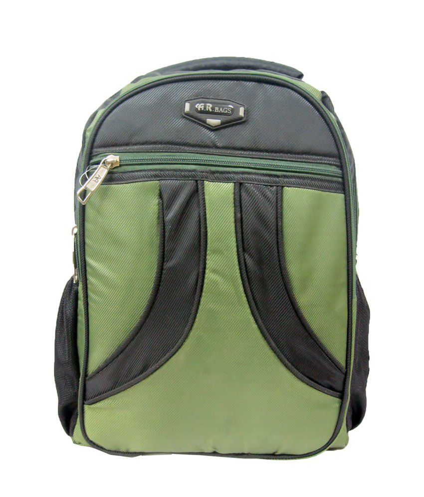 R-dzire Green Polyester Backpack Water Resistant