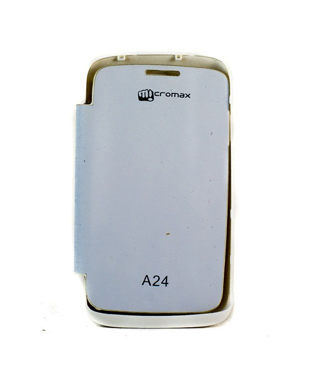 premium selection bef78 995fe Video Tronix Battery Flip Back Cover Case For Micromax Bolt A24 - White
