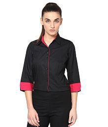 Dazzio Black Cotton Shirts