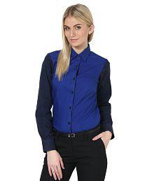 Dazzio Blue Cotton Shirts