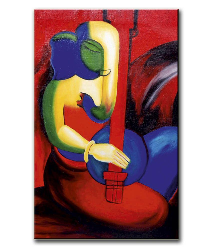 Anwesha's Gallery Wrapped Canvas Digital Print Wall Painting 12.5 X 20 Inch - Ganesh